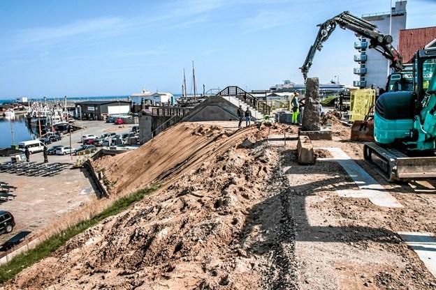 Det er planlagt at trappen skal stå færdig senest ved Naturmødet 2019. Foto: Peter Jørgensen Peter Jørgensen