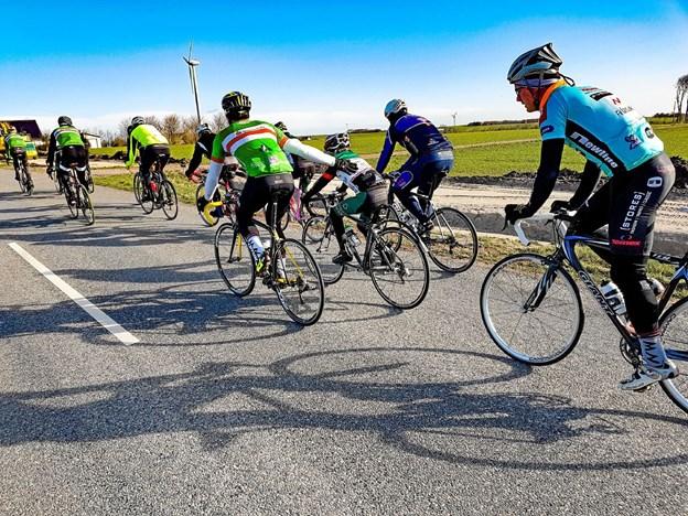Ved fortræningen til En Forårsdag i Thy er der plads til alle der kan lide at cykle på racer. Foto: Ole Iversen Ole Iversen