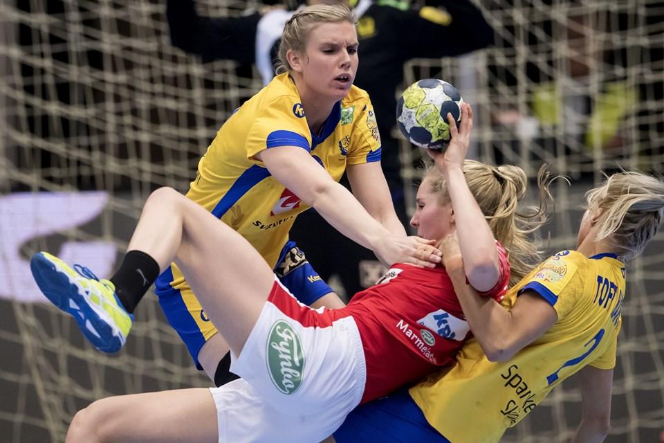 20219a742c4 tacklede igennem, da Sverige og Danmark tørnede sammen i to testkampe inden  VM. Foto: /ritzau/René Schütze/arkiv