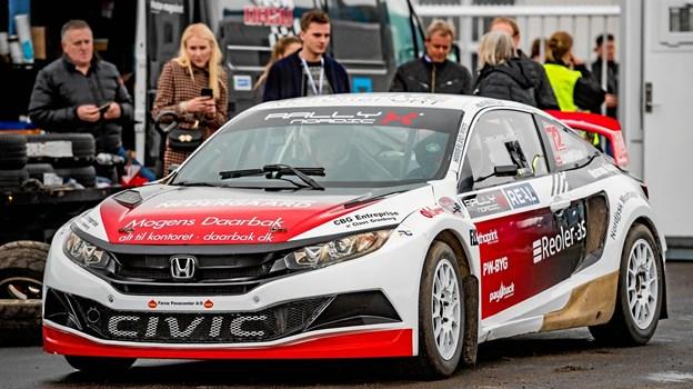 Ulrik Linnemann konkurrence-testede i 2018 Honda Civic Rx Super Car sammen med Olsbergs Mse.