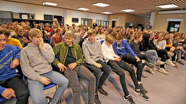 En paneldebat med ungdomspolitikere blev fulgt med stor interesse. Spørgelysten var også stor og mange emner kom på banen.Foto: Jørgen Ingvardsen Jørgen Ingvardsen