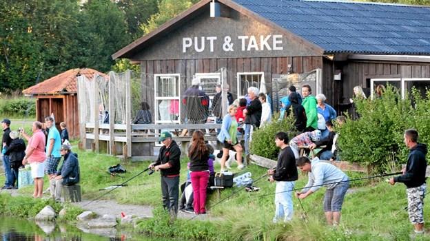 Snøren kan atter smides ud i Lagunen Fiskepark. Foto: Allan Mortensen