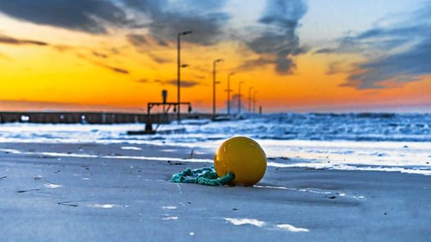 Løkken Mole i solnedgang. Foto: Randi Møgelmose