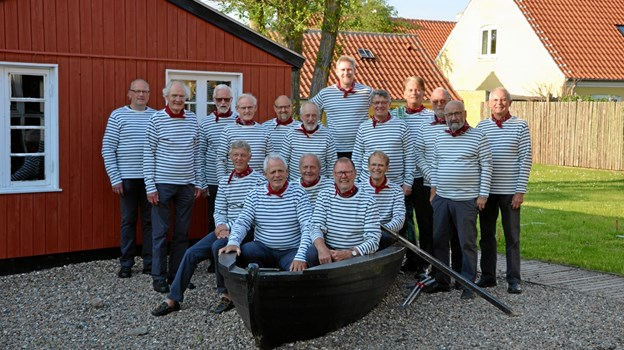 """Publikum må vente til senere at høre om fire svenske orlogsskibes forlis ved Skagen og at høre """"Gasterne"""" synge. Foto: Kystmuseet"""