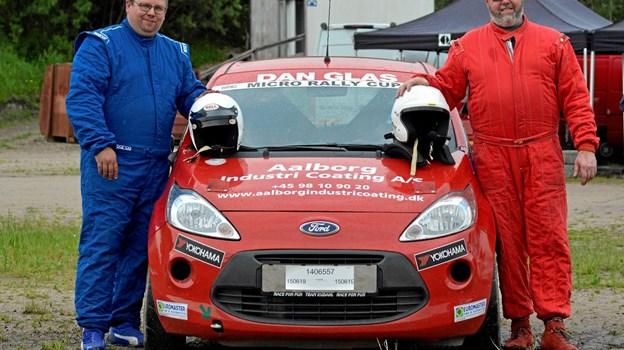 Benny og Thomas Kudahl var glade for udfordringerne på rally cross rundbanen. BN6920