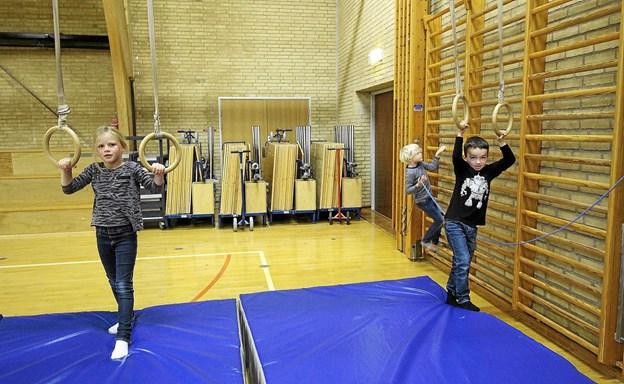 Der var masser af aktivitetsmuligheder i Asaa Hallen i efterårsferien, og det var der mange, der benyttede sig af. Foto: Jørgen Ingvardsen