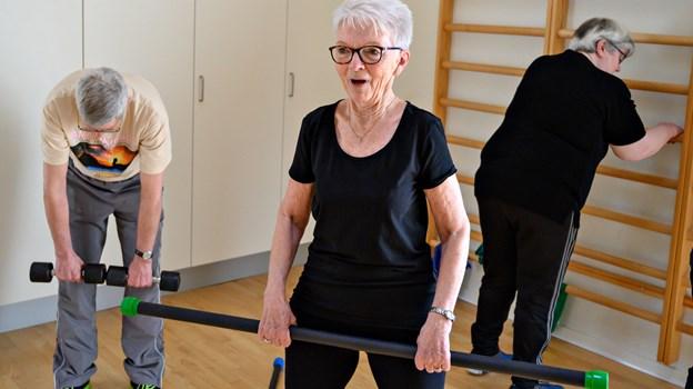 Der findes et tilsvarende hold for færdigbehandlede kræftramte i Dronninglund. Foto: Kurt Bering