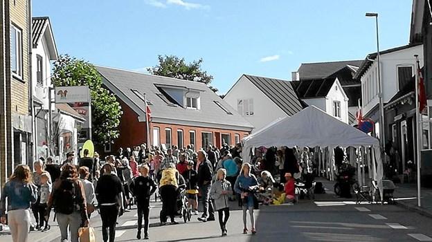 Fra den 13. til 18. august byder Skørping på en lang række aktiviteter - både i Jyllandsgade og andre steder i byen. Foto: Privat Privat