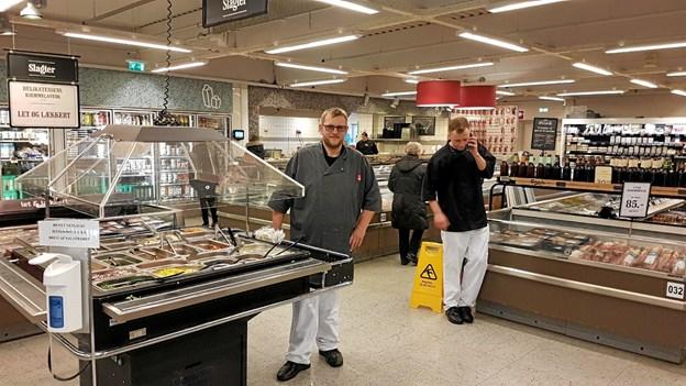Heini Flamsted og Kasper Schnieder og deres 8 kolleger ser frem til på mere plads at præsentere masser af nyheder. Foto: Karl Erik Hansen Karl Erik Hansen