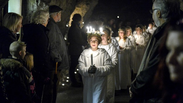 Der er Luciaoptog i Thingbæk Kalkminer 9. december. Arkivfoto: Michael Koch
