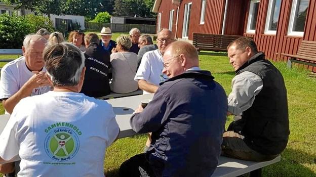 """Der var fin tilslutning til premieren på det nye initiativ """"Meet the Locals"""" i Øster Hurup. Privatfoto"""