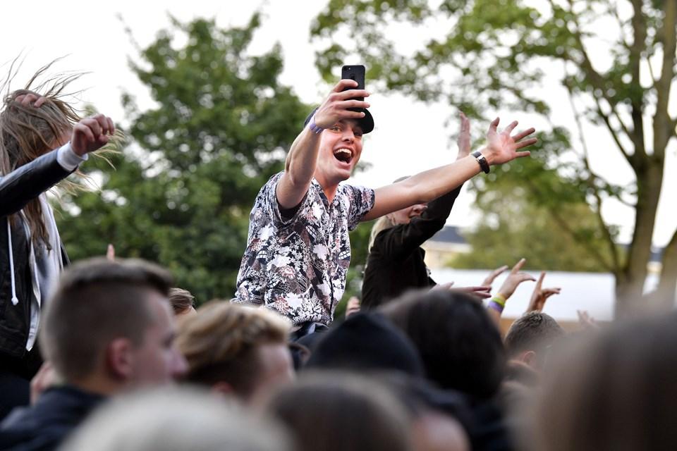 Skråens Fredagsfest i Karolinelund er efterhånden blevet et populært arrangement. Arkivfoto: Claus Søndberg