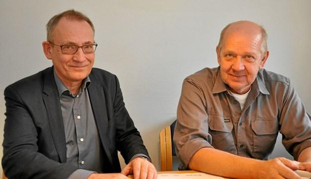 Morten Jensen og Johan Frey skal i den nærmeste fremtid mødes rimeligt regelmæssigt. Der er mange ting vedr. energifremstillingen, som skal drøftes.Foto: Ole Torp