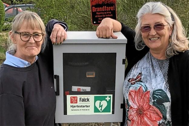 Pia Haaning (tv.) Lions Sydthy Liden Kirsten og Ane Line Johannessen, formand for Grundejer Foreningen Helligsø drag.Privatfoto