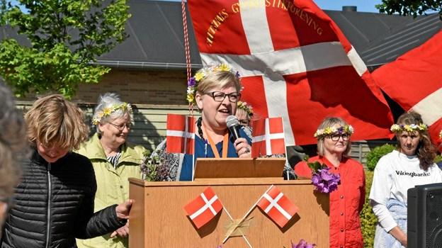 Afdelingsleder Annette Hastrup byder de mange olympiske deltagere velkommen til den 6. Olympiade. Foto: Niels Helver Niels Helver