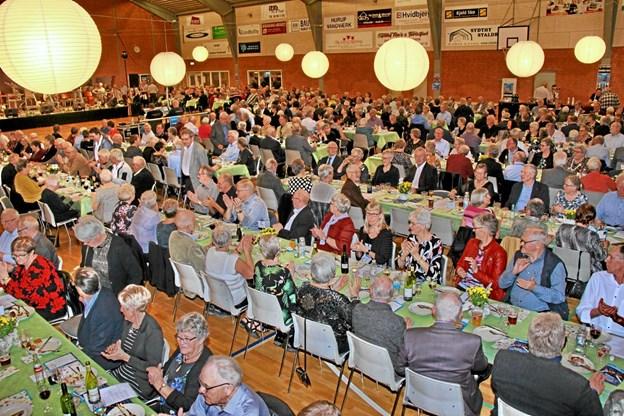 Godt 500 personer deltog i arrangementet og der var total udsolgt. Foto: Hans B. Henriksen Hans B. Henriksen