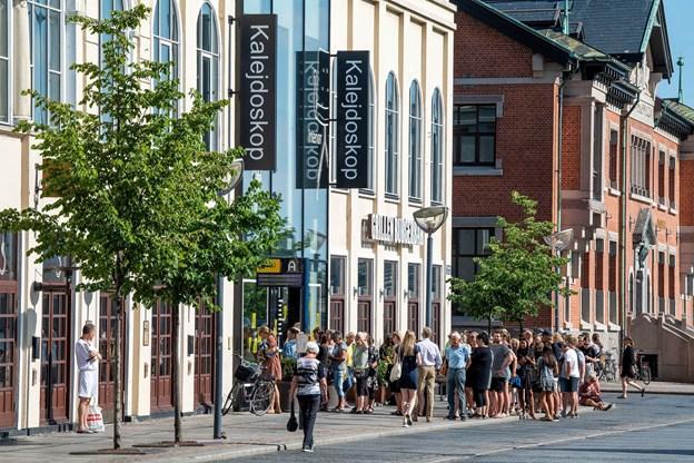 Kalejdoskop i Aalborg er erklæret konkurs. I dag er der konkurs-salg. Foto: Henrik Bo