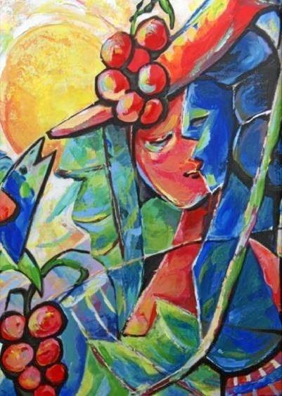 Et eksempel på kunstneren Robby Autar værker. Privatfoto
