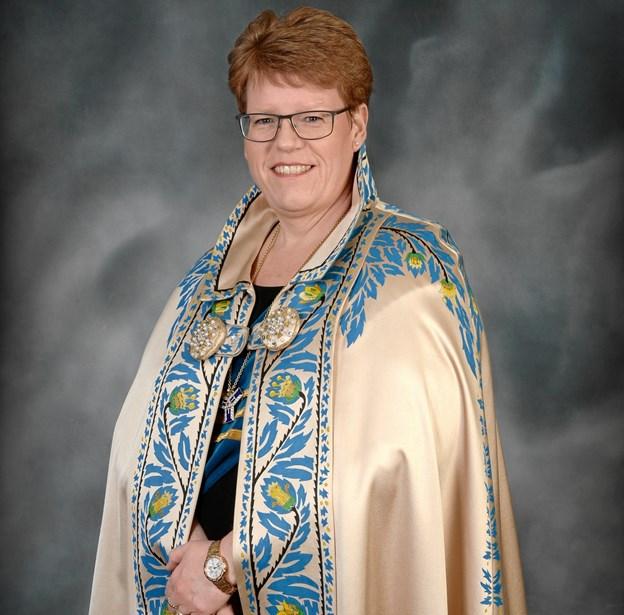 Kis Brask er præsident i Marialogen Nykøbing. PR-foto.