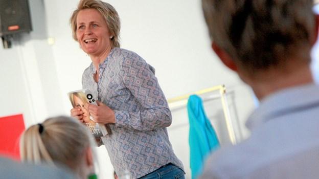 Den tidligere håndboldlandsholdsspiller Rikke Nielsen holder 8. maj foredrag i aulaen på Hals Skole. Foto: Allan Mortensen