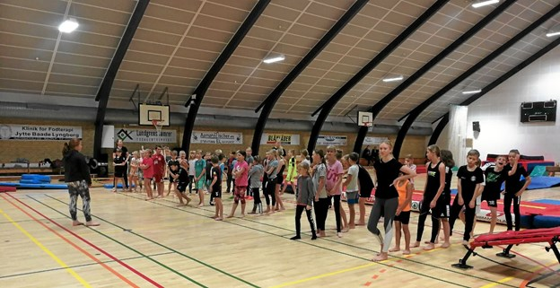 Gymnastik er populært i Suldrup.  Privatfoto