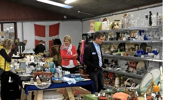 22. juni er der atter loppemarked i Saltum. I maj havde loppemarkedet fornemt besøg. Privatfoto