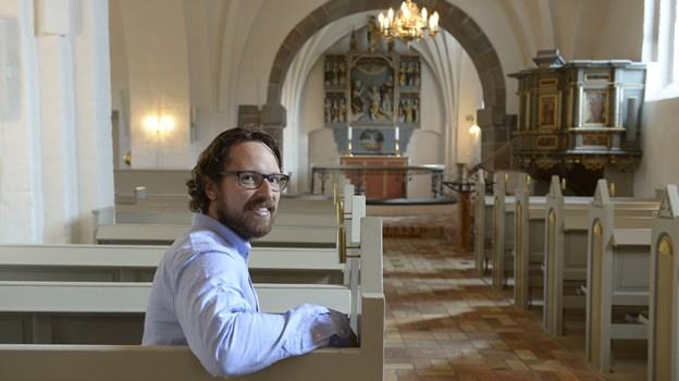 Frans Rossing Andersson står for flere julegudstjenester i Aaby Kirke. Arkivfoto: Michael Bygballe