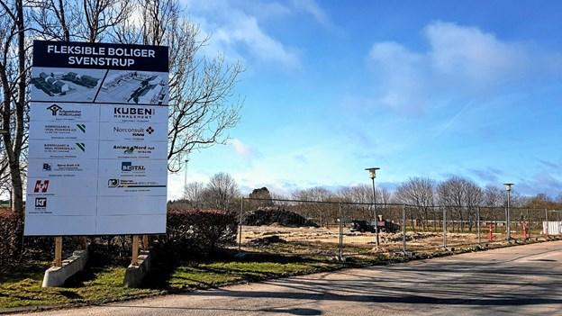På området Valhal tæt ved Lægehuset og Højvangskolen opføres 30 lejeboliger. Der bliver tilkørsel fra Tingstedet. Foto: Karl Erik Hansen