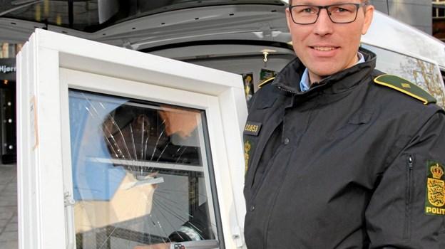 Politiassistent Søren Panum kommer gerne ud i boligforeninger og virksomheder og fortæller om forebyggelse mod indbrud.