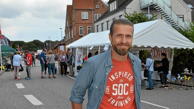Rasmus Falk, formand for Skørping Byfestlav. Foto: Jesper Bøss