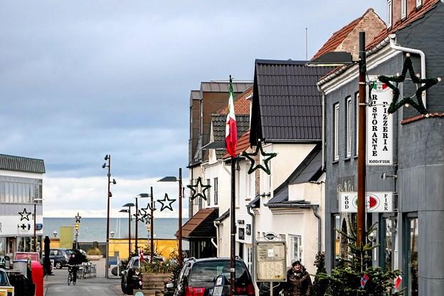 Julestemning i Hirtshals. Foto: Peter Jørgensen