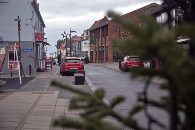 Handelslivet i Hirtshals går godt trods konkurrence fra nethandel og shoppingcenter i Hjørring. ? Foto: Kurt Bering Kurt Bering