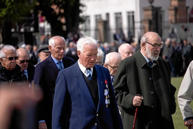Henning Jensen var en af fire fremmødte, som kan fejre 70 års jubilæum hos Den Kongelige Livgarde i år. Foto: Kasper Ørkild