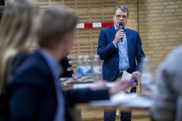 Paneldebat på Skolegades Skole forud for skolevalget 31. januar.Foto: Lars Pauli © Lars Pauli