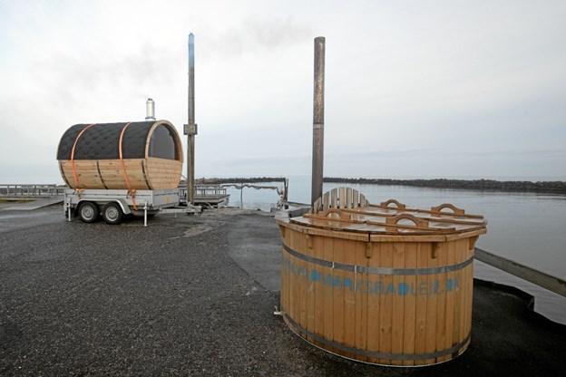 Vildmarksbadet og saunaen kan benyttes i uge 7 og 8. Foto: Allan Mortensen