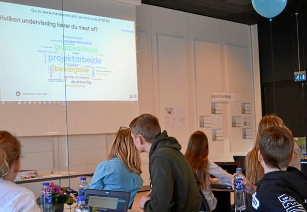 Der blev taget stilling til, hvordan man bedst lærer - og eleverne var ret klare i spyttet. Det handler om engagement. Privatfoto