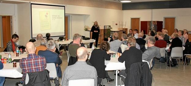 forfatter og foredragsholder Karen Lumholt holdt foredrag i forbindelse med generalforsamling. Privatfoto