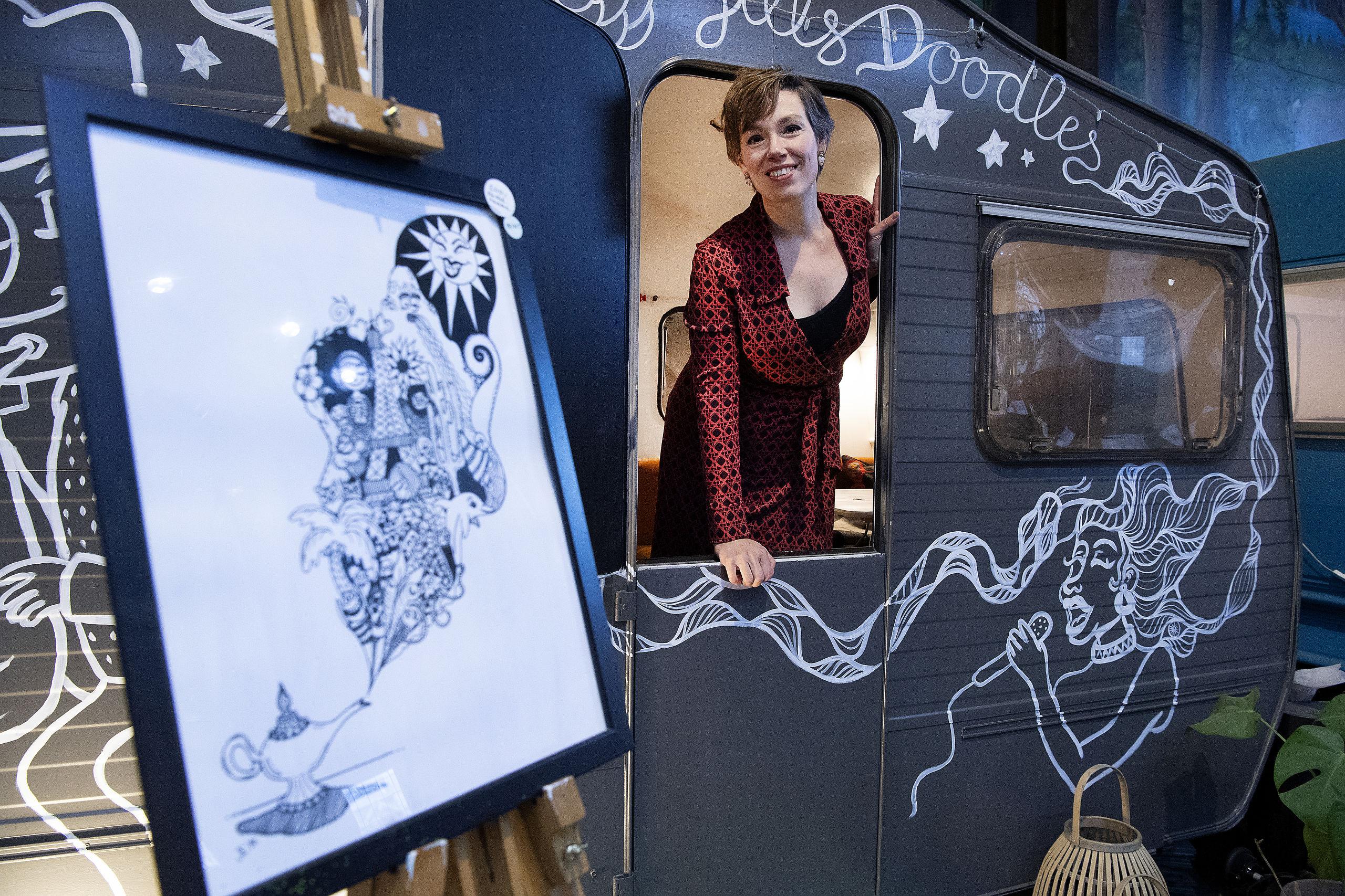 Fremover vil Jill Lycoops satse 100 procent på sin kunst. Foto: Peter Mørk