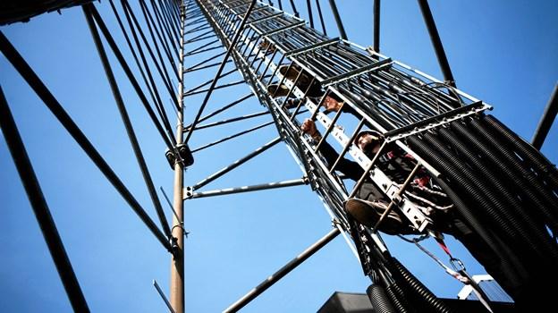 En etablering af en mobilmast på Gjøl nærmer sig.  Arkivfoto