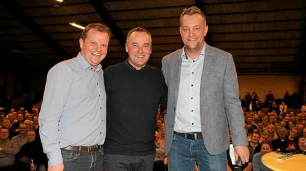 Peter Ingemann omgivet af Lars Lundtoft og Bo Bo Zinck. Foto: Flemming Dahl Jensen Flemming Dahl Jensen