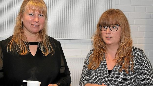 Dorte Sastakauskas Jensen, konstitueret Fagchef Sundhed og Handicap og Pil Rahbek som er Sundheds- og Handicapchef i Jammerbugt Kommune. Foto: Flemming Dahl Jensen