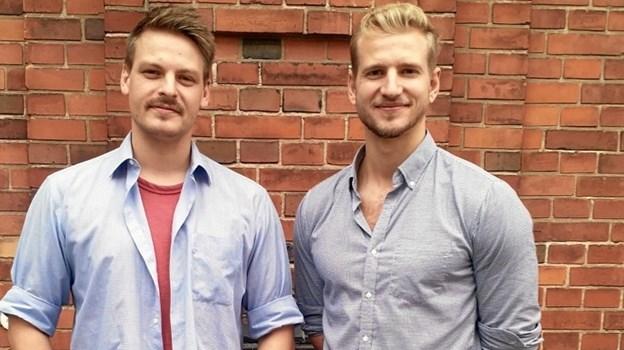 Anders Munch Amdisen til venstre har mastereret soundtracket som fætter Rasmus Madsen Munch til højre har produceret.