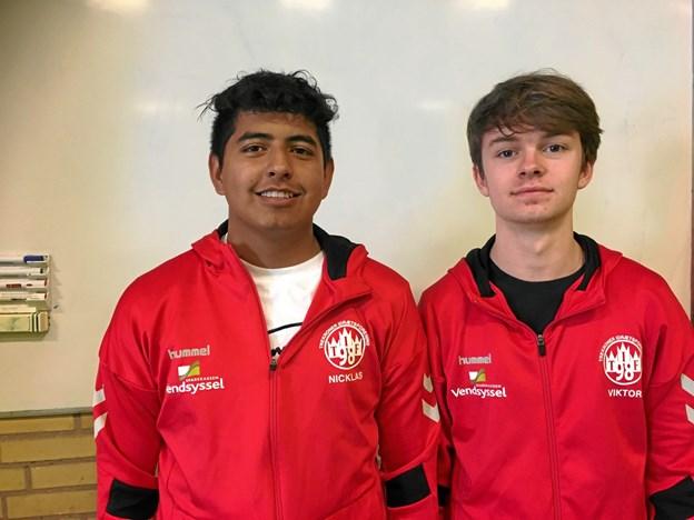 Nicklas Andersen og Viktor Kappel bliver trænere for det nye talenthold - de har begge personlig erfaring inden for talentgymnastik. Privatfoto