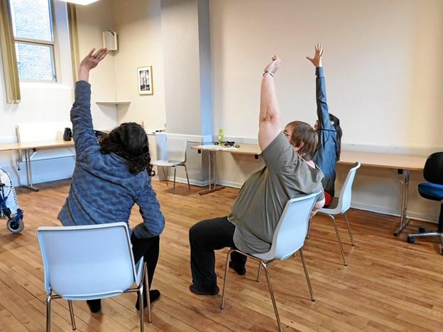 Stole yoga består blandt andet af udstræk og styrkeøvelser. Privatfoto