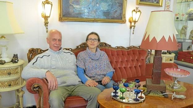 Parret placeret midt i udstillingen. Foto: Kirsten Olsen Kirsten Olsen