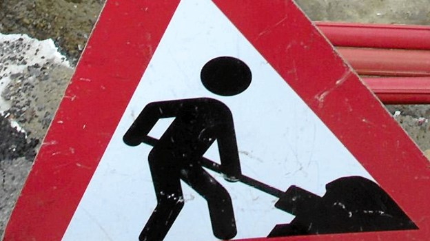 Allerede fra mandag bliver der sat gang i en række midlertidige omlægninger af trafikken i det store kryds. Arkivfoto