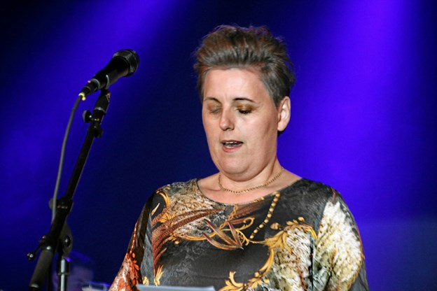 Formanden for Musikkens Venner, Lene Vangsgaard bød alle velkommen. Foto: Hans B. Henriksen Hans B. Henriksen