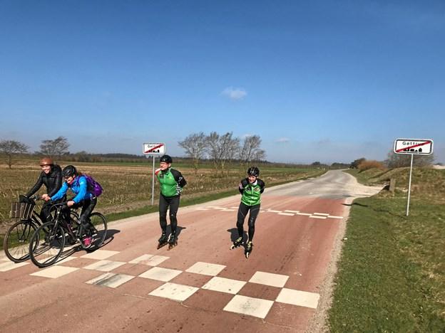 Der kan cykles, løbes på rulleskøjter og bare løbes. Privatfoto