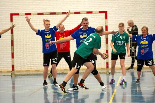HF Mors Special Olympics er et hold, bestående af mennesker med et udviklingshandicap, og spillerne ligger i alder fra 14 år og op. ? Foto: Kim Boll