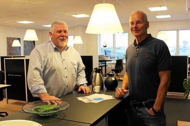 Fra venstre iværksætterkonsulent hos Erhvervshus Nord Kurt Ladefoged Nielsen og iværksætter med virksomheden CU-Analyse Lars Christensen.    Privatfoto?